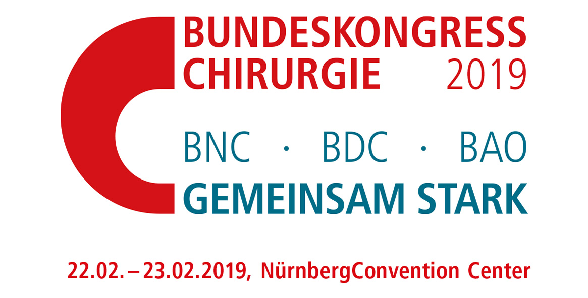 BCH 2019 – Bundeskongress Chirurgie 2019 @ NürnbergConvention Center, NCC Ost  | Nürnberg | Deutschland