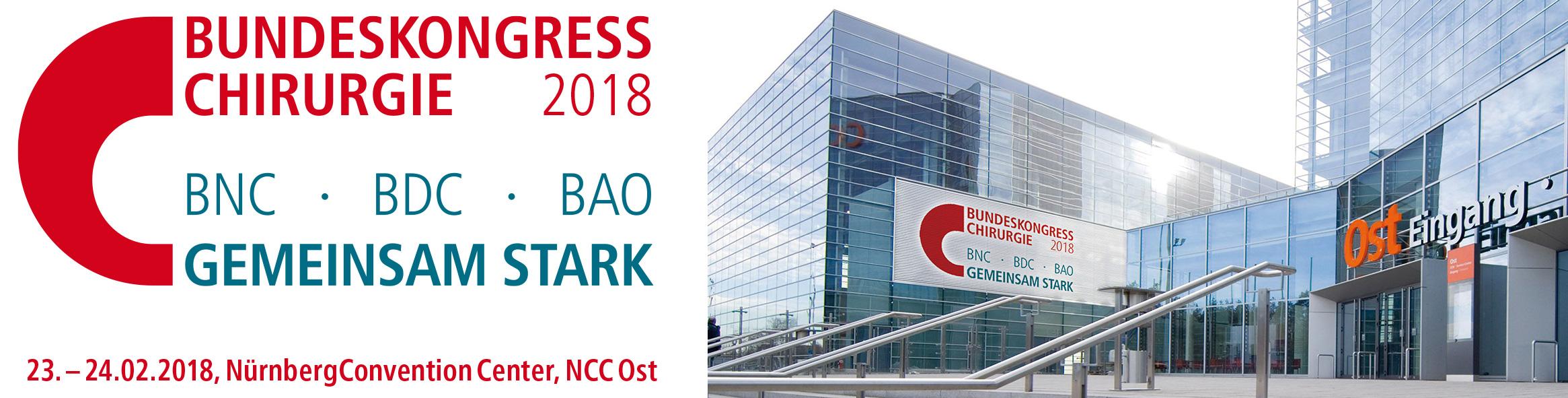 BCH 2018 – Bundeskongress Chirurgie 2018 @ Nürnberg, NCC Ost @ NürnbergConvention Center, NCC Ost  | Nürnberg | Deutschland
