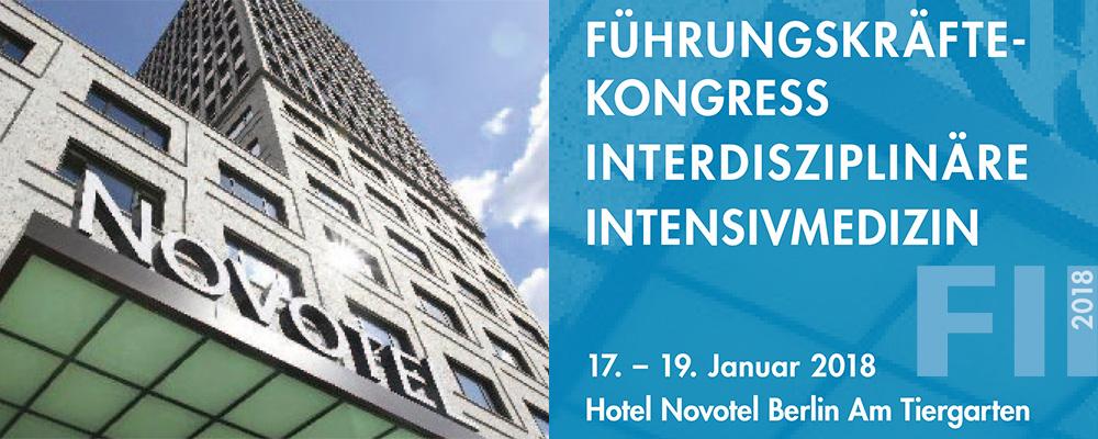 FII 2018 – Führungskräftekongress Interdisziplinäre Intensivmedizin 2018 @ Novotel Berlin Am Tiergarten | Berlin | Berlin | Deutschland